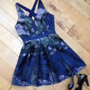 Blue floral Adeline Rae dress size small